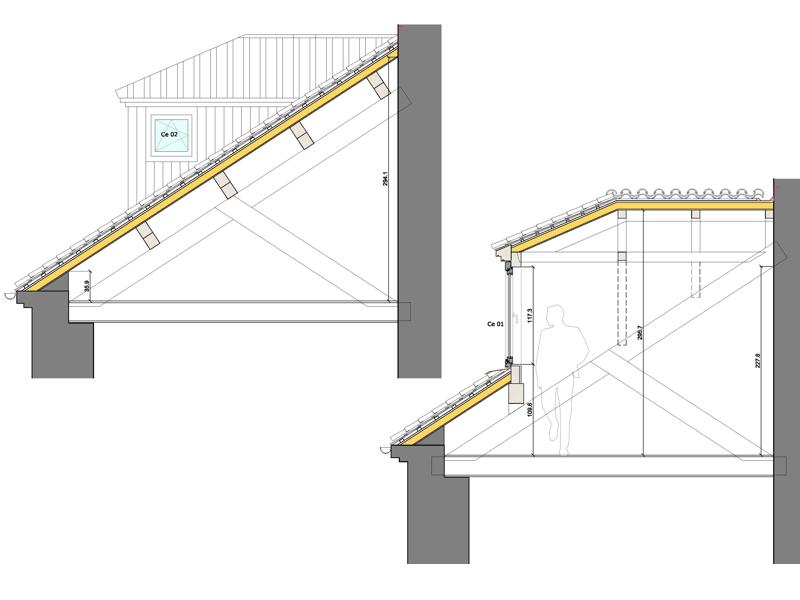Rectoral carballi o aestudio arquitectos coru a - Estructura tejado madera ...