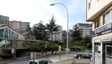 Estamos En A Coruña Frente Al Forum Metropolitano En El Parque De Europa